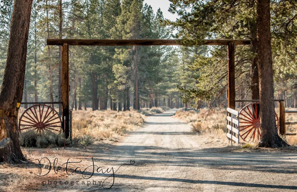 Photo of an entrance to a ranch.