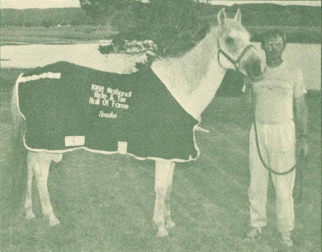 Image of 1988 National Ride & Tie Hall of Fame horse Smoke.