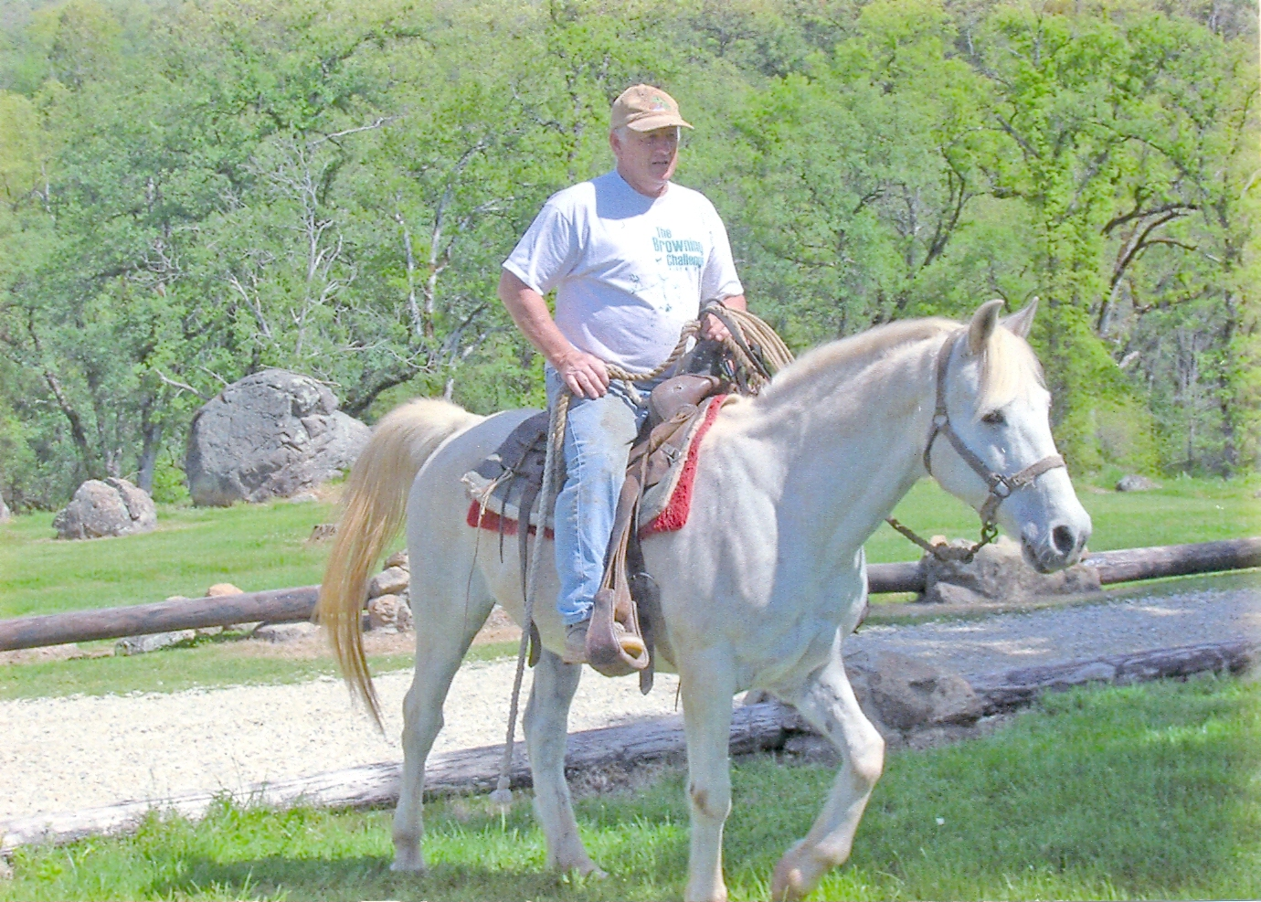 Image of a man on a horse.
